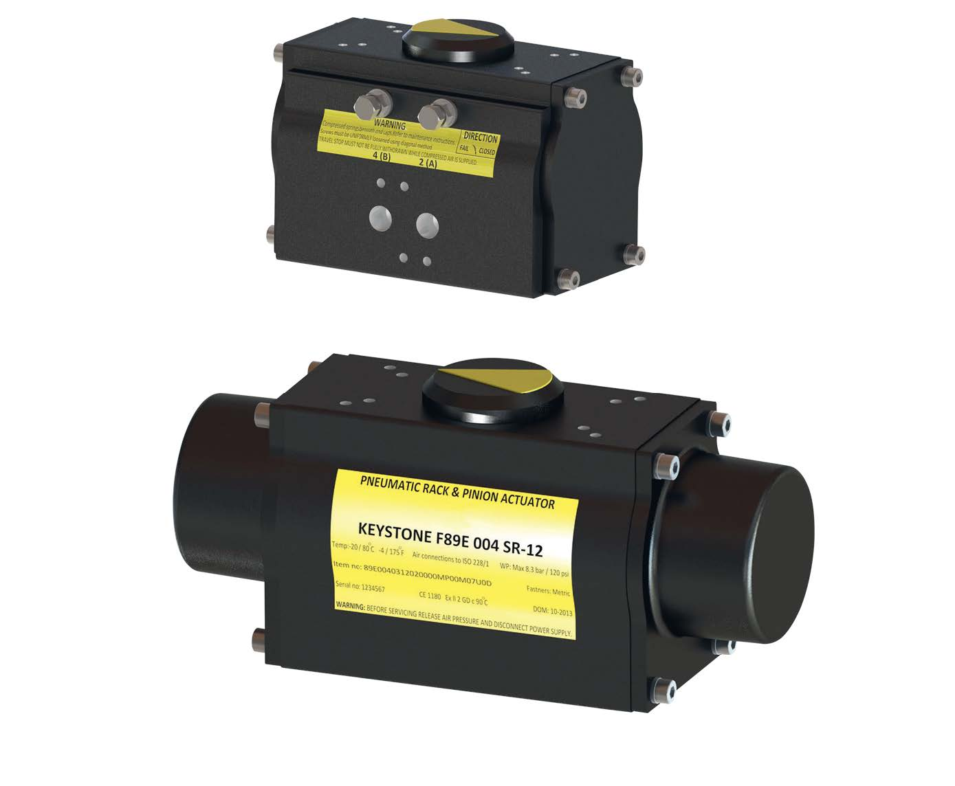 Pneumatic actuators - Keystone